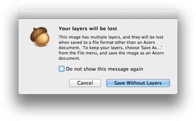 Acorn: Creating, Opening, and Saving Images