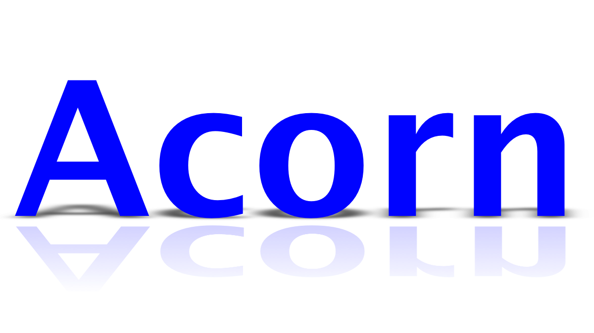 Acorn  Giving Text Shadows And Reflection