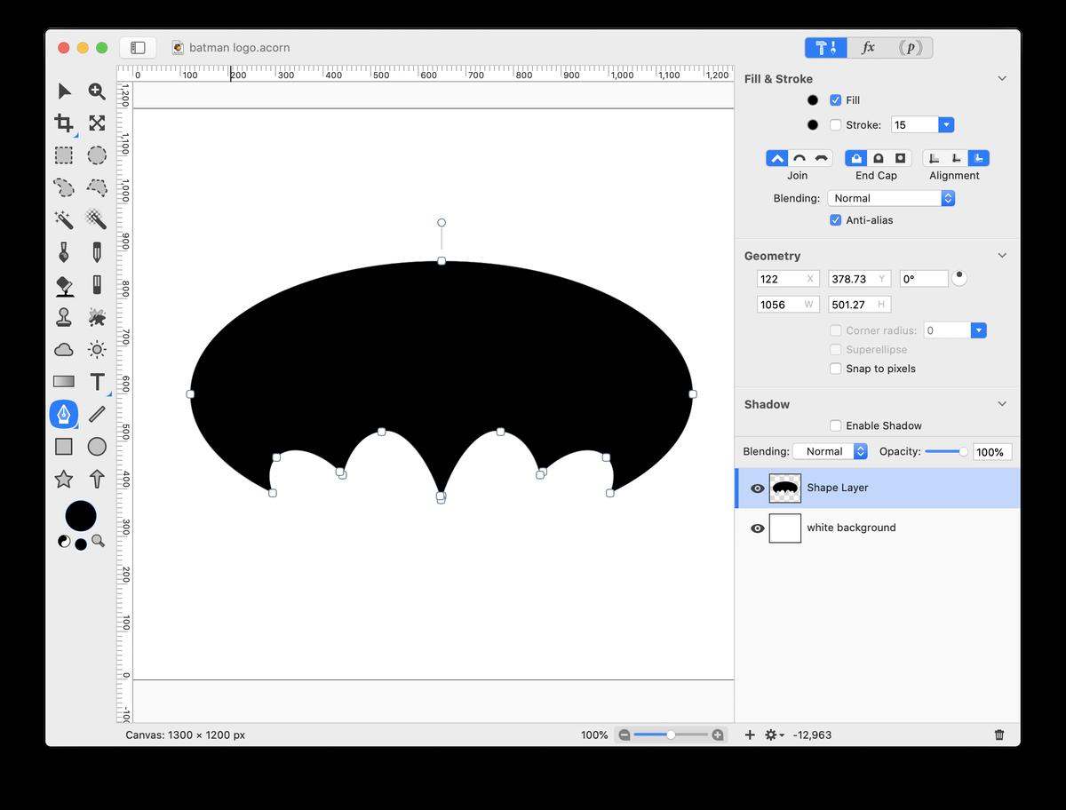 Acorn Batman Logo