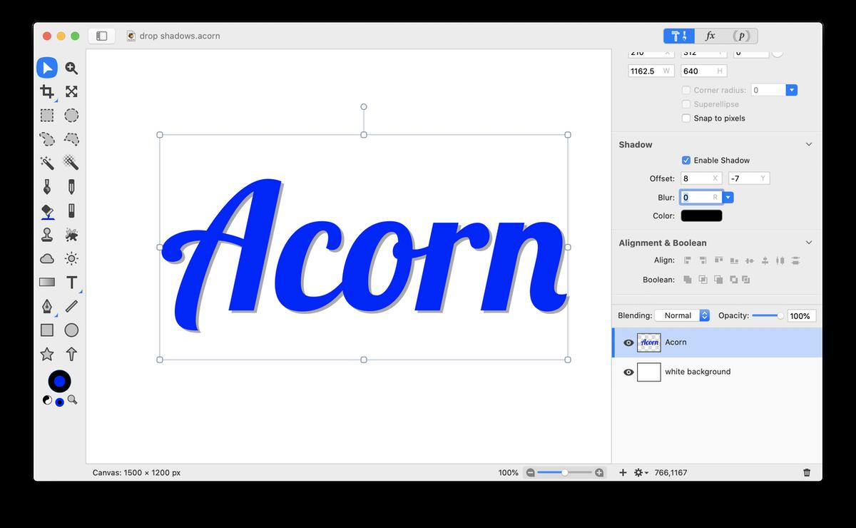 Acorn: Drop Shadows