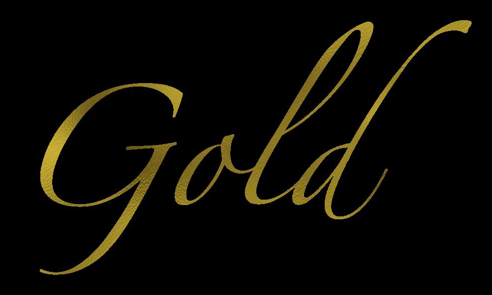 Acorn gold text