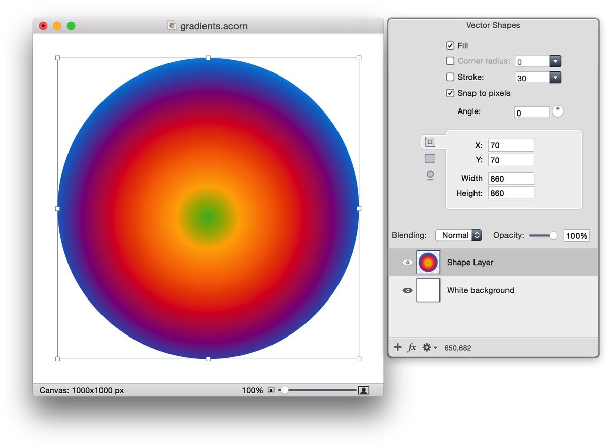Acorn: Gradient Tool