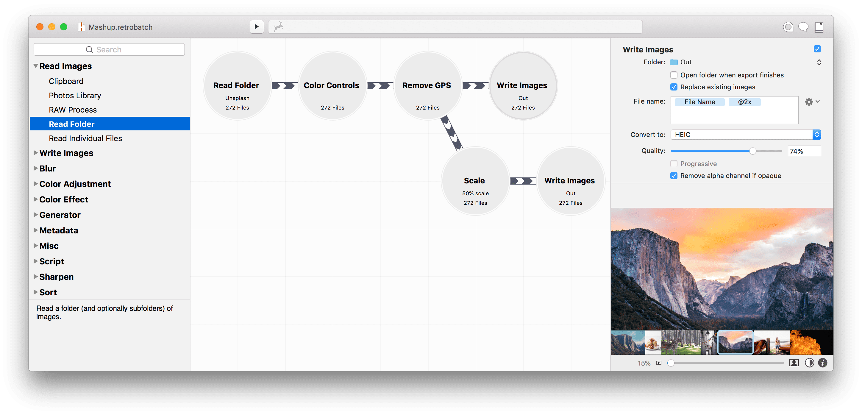 Say Hello to Retrobatch, a Powerful Node-Based Batch Image Processor Image